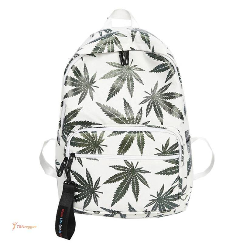 Stylish Unisex Backpacks with Cannabis Leaf Patterns Backpacks