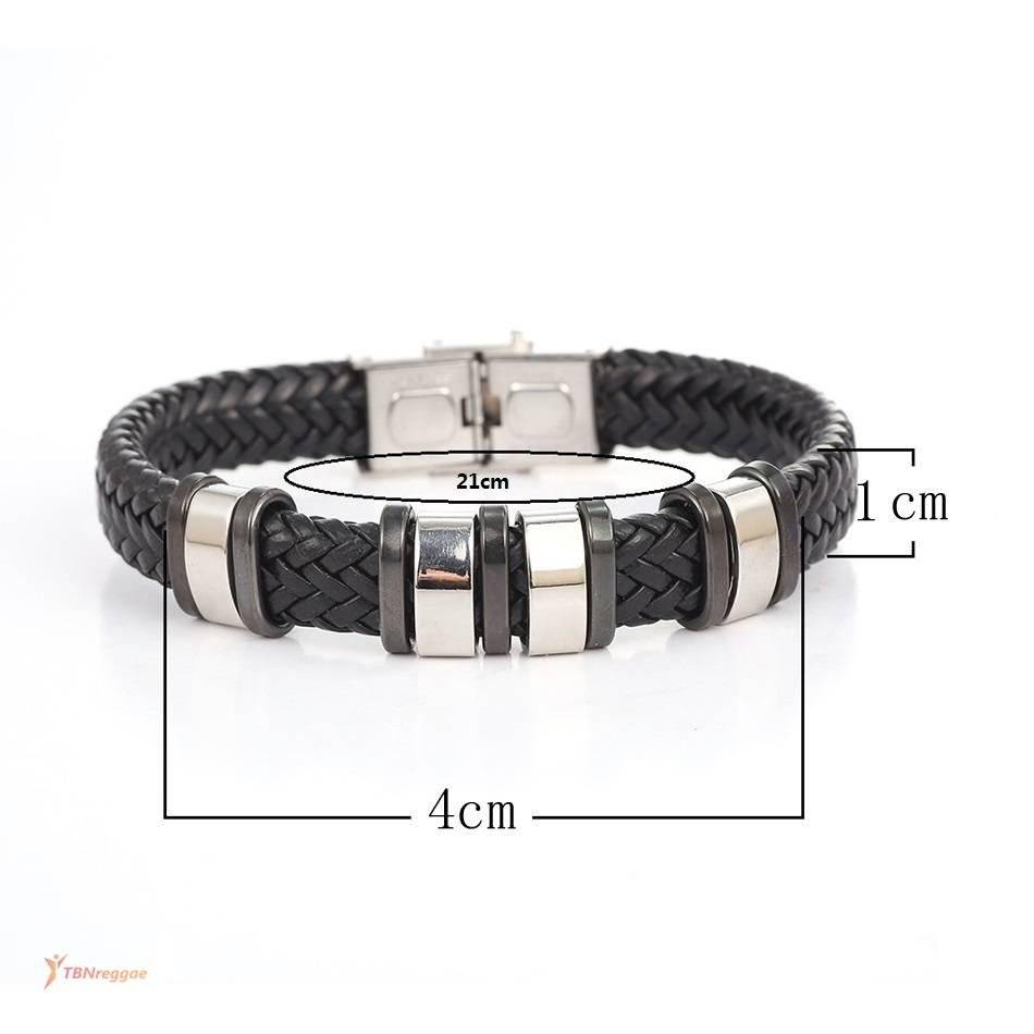 Men's Leather Bracelets with Metal Cuff Bangles & Bracelets New In