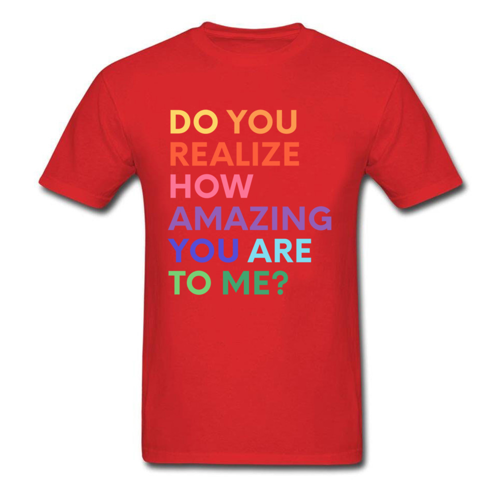 How Amazing You Are Inspirational T-Shirt T Shirts Color: Red Size: XXXL