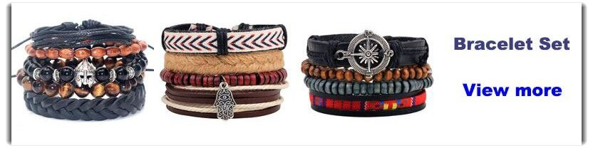 Rasta Color Leather Bracelet Bangles & Bracelets