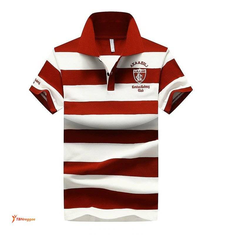Fashion Stripe Men Polo-shirt T Shirts