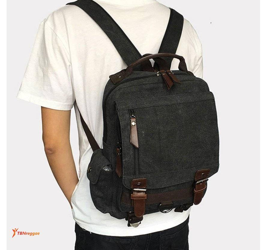 Men's Retro Style Canvas Backpack