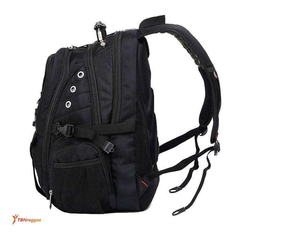 Men's Large Capacity Travel Backpack with Tactical Buckle