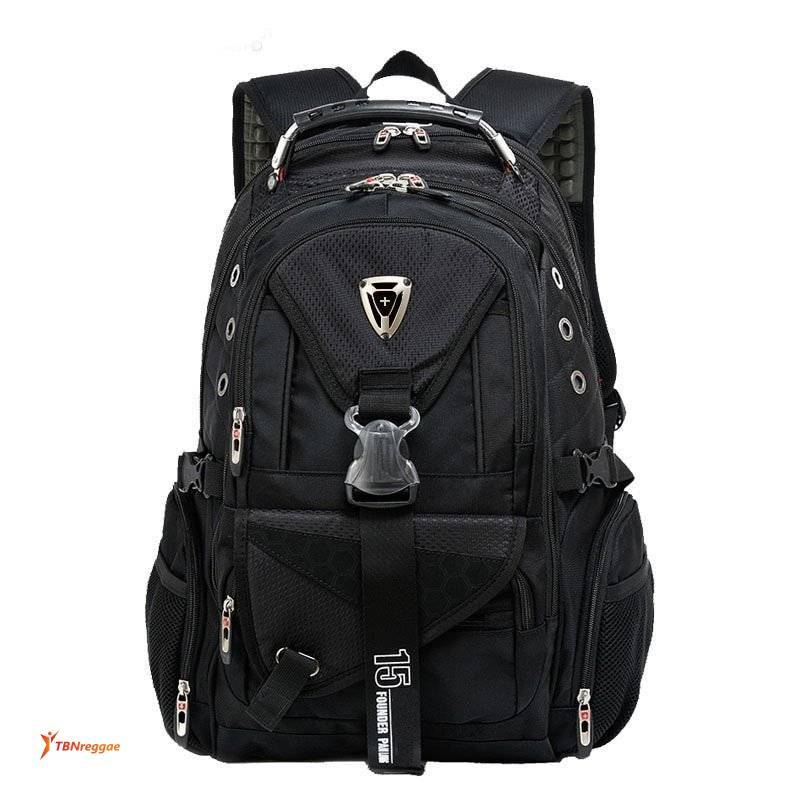 Men's Large Capacity Travel Backpack with Tactical Buckle Backpacks
